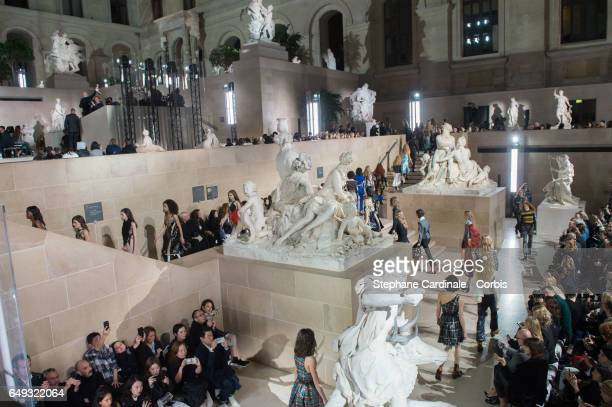 General view of the runway during the Louis Vuitton show as part of the Paris Fashion Week Womenswear Fall/Winter 2017/2018 on March 7 2017 in Paris...