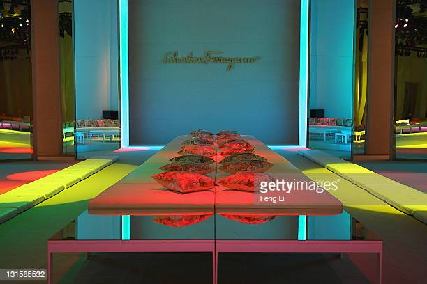 A general view of the runway of the Salvatore Ferragamo Spring Summer show at the Ullens Centre for Contemporary Art on November 5 2011 in Beijing...