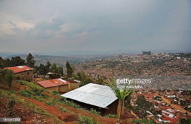 A general view of the Rwandan capital Kigali September 18 2013 seen from an informal settlement on a hill northeast of the city Informal villages...