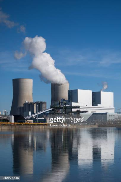 A general view of the RWE Kraftwerk Westfalen coalfired power plant on February 14 2018 near Hamm Germany The plant uses bituminous coal and has a...