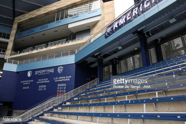 A general view of the safe standing at Children's Mercy Park home stadium of Sporting Kansas City prior to the 2018 Tournament Of Nations women match...