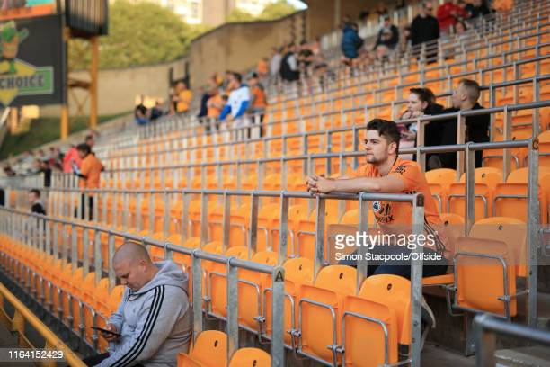 A general view of the safe standing seats before during the Premier League match between Wolverhampton Wanderers and Manchester United at Molineux on...