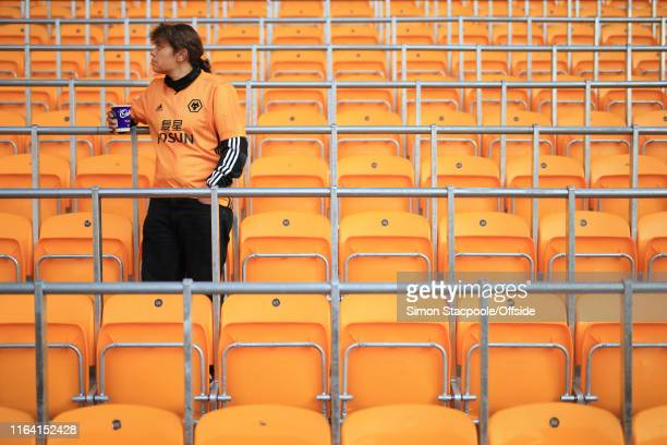 A general view of the safe standing seats before the Premier League match between Wolverhampton Wanderers and Manchester United at Molineux on August...