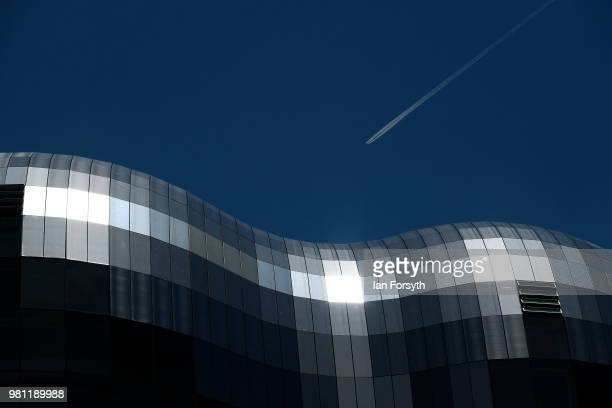 General view of the Sage, Gateshead on the launch day of the Great Exhibition of the North on June 22, 2018 in Newcastle Upon Tyne, England. The...