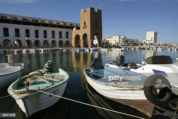 A general view of the sailing resort in Sidi Fredj 25kms west of Algiers 06 April 2004 AFP PHOTO JOEL ROBINE