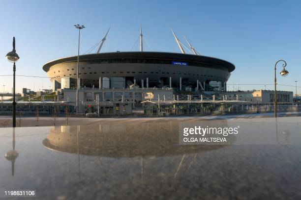 A general view of the Saint Petersburg Stadium on February 4 2020 Russia's Saint Petersburg is one of 12 locations across Europe scheduled to host...
