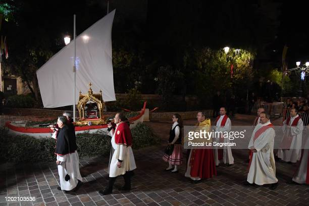 General view of the Sainte Devote Ceremony. Sainte devote is the patron saint of The Principality Of Monaco and France's Mediterranean Corsica...