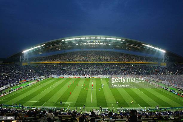 General View of the Saitama Stadium during the Group H match between Japan and Belgium of the World Cup Group Stage match played at the Saitama...