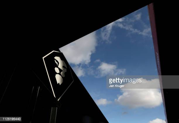 A general view of the Salford City badge inside the ground prior to the Vanarama National League match between Salford City and Dover Athletic at...