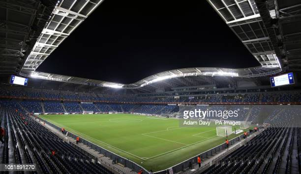 General view of the Sammy Ofer Stadium before the UEFA Nations League Group C1 match between Israel and Scotland.