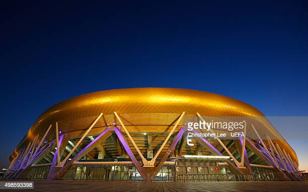 General view of the Sammy Ofer Stadium during the UEFA Champions League Group G match between Maccabi Tel-Aviv FC and Chelsea at the Sammy Ofer...