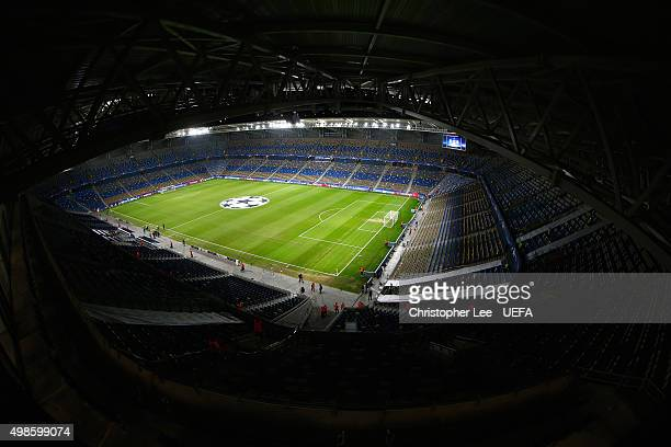 General view of the Sammy Ofer stadium prior the UEFA Champions League Group G match between Maccabi Tel-Aviv FC and Chelsea on November 24, 2015 in...