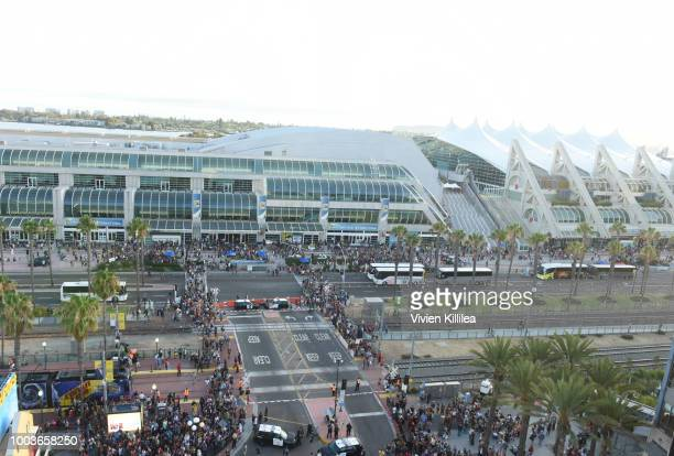 A general view of the San Diego Convention Center during 2018 ComicCon International on July 21 2018 in San Diego California