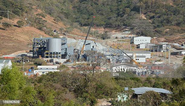 General view of the San Rafael minery, a subsidiary of Canadian firm Tahoe Resources, is seen in San Rafael Las Flores municipality, Jalapa...