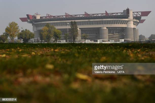 A general view of the San Siro stadium ahead the UEFA Europa League group D match between AC Milan and AEK Athens at on October 19 2017 in Milan Italy