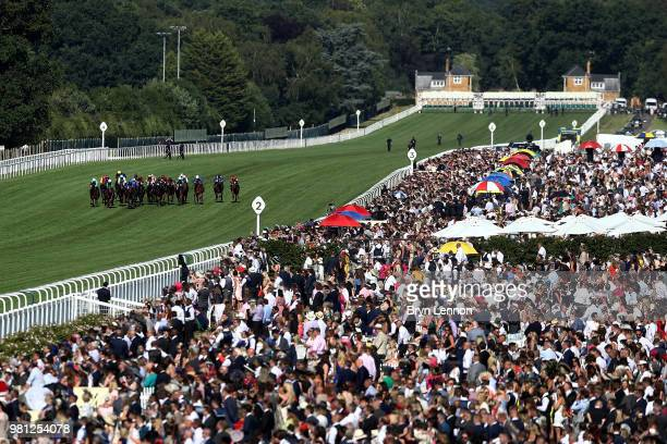 A general view of the runners and riders in The Duke of Edinburgh Stakes on day 4 of Royal Ascot at Ascot Racecourse on June 22 2018 in Ascot England