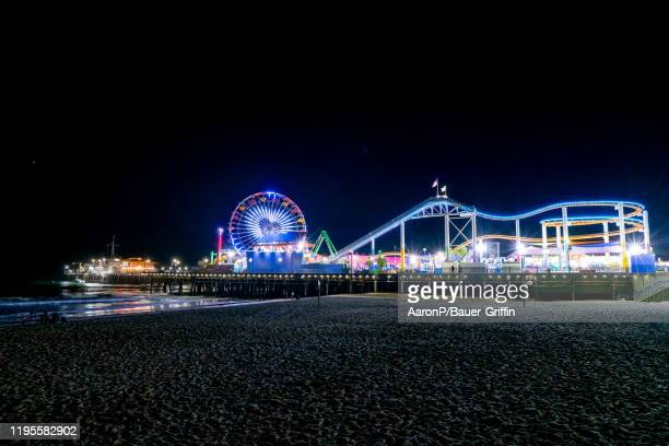 General view of the Santa Monica Pier on January 23 2020 in Los Angeles California