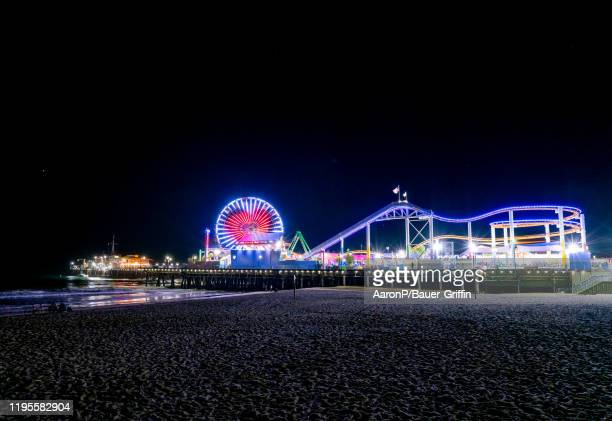 General view of the Santa Monica Pier on January 23, 2020 in Los Angeles, California.