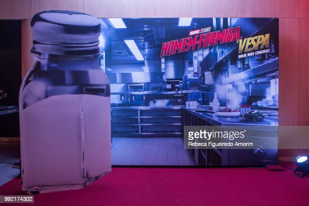 General view of the Sao Paulo Premiere of The AntMan and The Wasp at Cinépolis Shopping JK Iguatemi on July 4 2018 in São Paulo Brazil