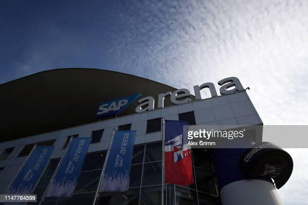General view of the SAP Arena on May 07, 2019 in Mannheim, Germany.