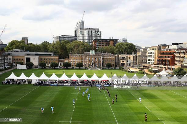 A general view of the Saracens v Ospreys match at Honourable Artillery Company on August 23 2018 in London England