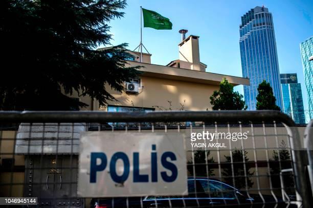 A general view of the Saudi Arabian consulate in Istanbul on October 7 2018 Jamal Khashoggi a veteran Saudi journalist who has been critical towards...