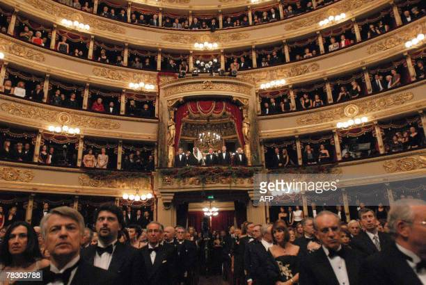 General view of the Scala Theater for the opening of the season Tristan und Isolde by Richard Wagner directed by Israeli Daniel Barenboim 07 december...