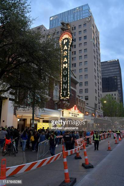 A general view of the scene and marquee outside the 'Pet Sematary' Premiere during the 2019 SXSW Conference and Festivals at Paramount Theatre on...