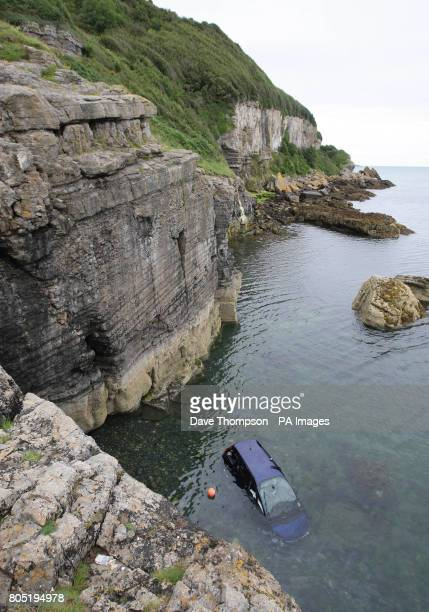 A general view of the scene in Benllech Anglesey where 11yearold Paige Dean cheated death after jumping from her grandfather's car before it fell...