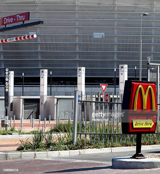 General view of the scene of the alleged incident a McDonalds drivethrough opposite the Cape Town World Cup Stadium on the day when Lady Amelia...