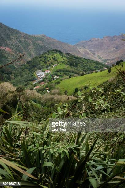 A general view of the scenery on October 25 2017 in the Sandy Bay area Saint Helena Following the introduction of weekly flights to the island...