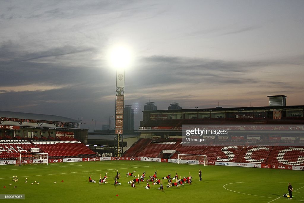 General view of the SCG stadium during the training camp of PSV Eindhoven on January 6, 2013 at Muanghtongh, Thailand.