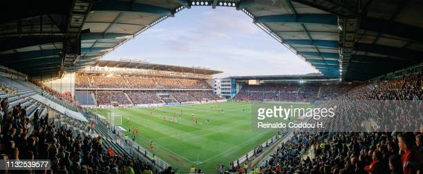 A general view of the Schueco Arena during the Second Bundesliga match between Arminia Bielefeld and 1FC Kaiserslautern on April 27 2018 in Bielefeld...