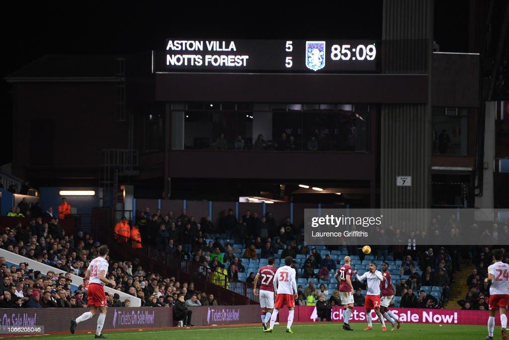 Aston Villa v Nottingham Forest - Sky Bet Championship : News Photo