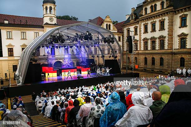 A general view of the Scorpions Concert during the Thurn Taxis Castle Festival 2016 on July 23 2016 in Regensburg Germany