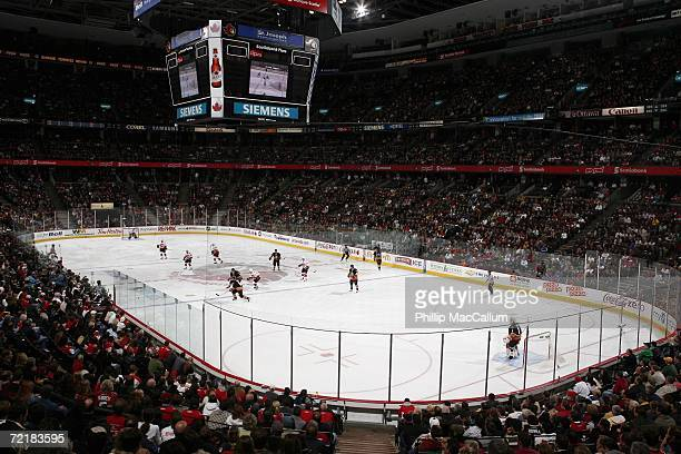 General view of the Scotiabank Place arena during a game between the Calgary Flames and the Ottawa Senators on October 12, 2006 in Ottawa, Canada....