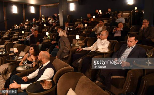 A general view of the screening room at the launch of the ad campaign film 'Back To Work' sealing the artistic collaboration between Kaspersky Lab...