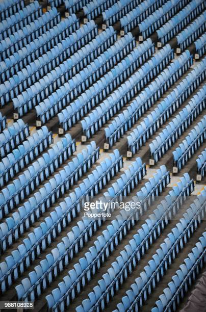 General view of the seating as Villa Park ahead of the Barclays Premier League match between Aston Villa and Fulham at Villa Park on February 5, 2011...
