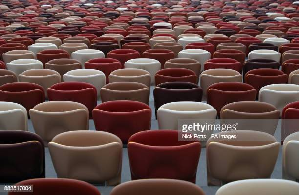 A general view of the seats inside the Luzhniki Stadium in Moscow Russia PRESS ASSOCIATION Photo Picture date Friday December 1 2017 The stadium will...