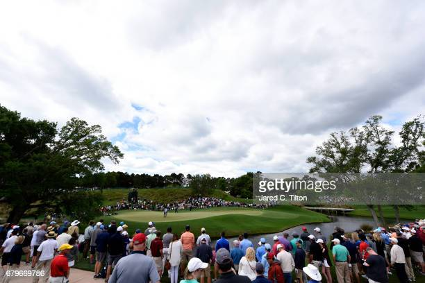 A general view of the second green during round three of the Wells Fargo Championship at Eagle Point Golf Club on May 6 2017 in Wilmington North...