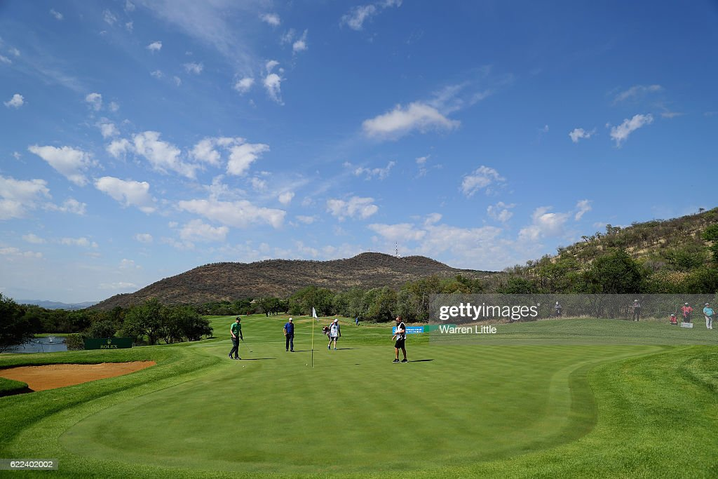 A general view of the second green during the second round of the Nedbank Golf Challenge at the Gary Player CC on November 11, 2016 in Sun City, South Africa.