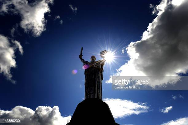 General view of the Second World War Memorial, the Rodina Mat Monument, ahead of the UEFA EURO 2012 tournament which kicks off tomorrow in Poland, on...