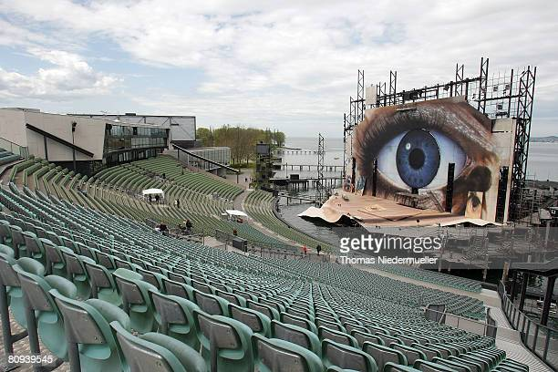 """General view of the Seebuehne, the set of the the latest James Bond movie """"Quantum of Solace,"""" the 22nd in the saga, April 29, 2008 in the old part..."""