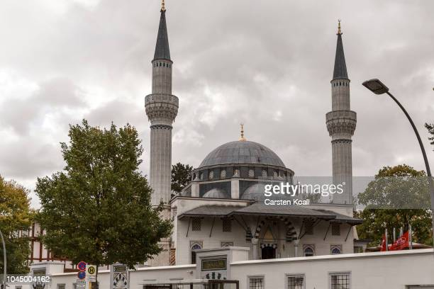 A general view of the Sehitlik mosque during an openhouse day of Berlin mosques on German Unity Day on October 3 2018 in Berlin Germany Unity Day...