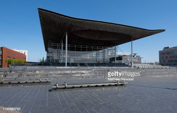 General view of the Senedd, home of the National Assembly for Wales, in Cardiff Bay on April 13, 2019 in Cardiff, United Kingdom.