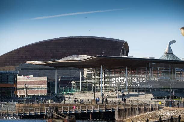 A general view of the Senedd home of the Welsh National Assembly in Cardiff Bay on May 10 2018 in Cardiff United Kingdom