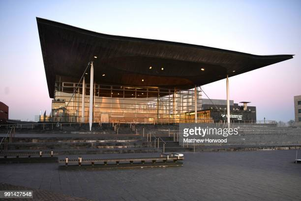 A general view of the Senedd home of the Welsh National Assembly in Cardiff Bay on February 25 2018 in Cardiff United Kingdom