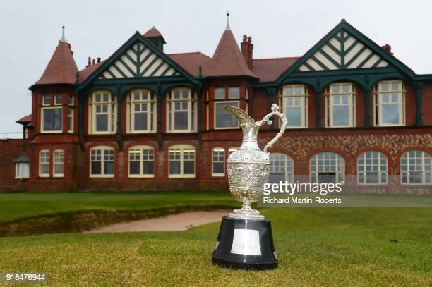 General View of the Senior Open Claret Jug18th green and Clubhouse at Royal Lytham St Annes Golf Club at the announcement of Royal Lytham St Annes...