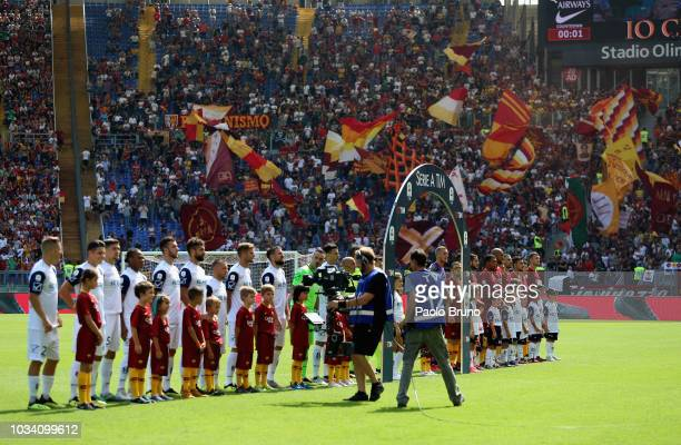 A general view of the serie A match between AS Roma and Chievo Verona at Stadio Olimpico on September 16 2018 in Rome Italy