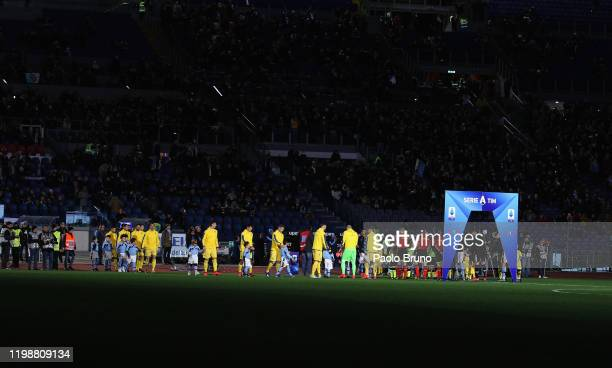 A general view of the Serie A match between SS Lazio and Hellas Verona at Stadio Olimpico on February 5 2020 in Rome Italy